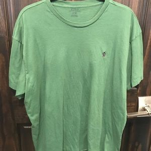 Green Polo Mens TShirt Large Blue Embroidered Logo